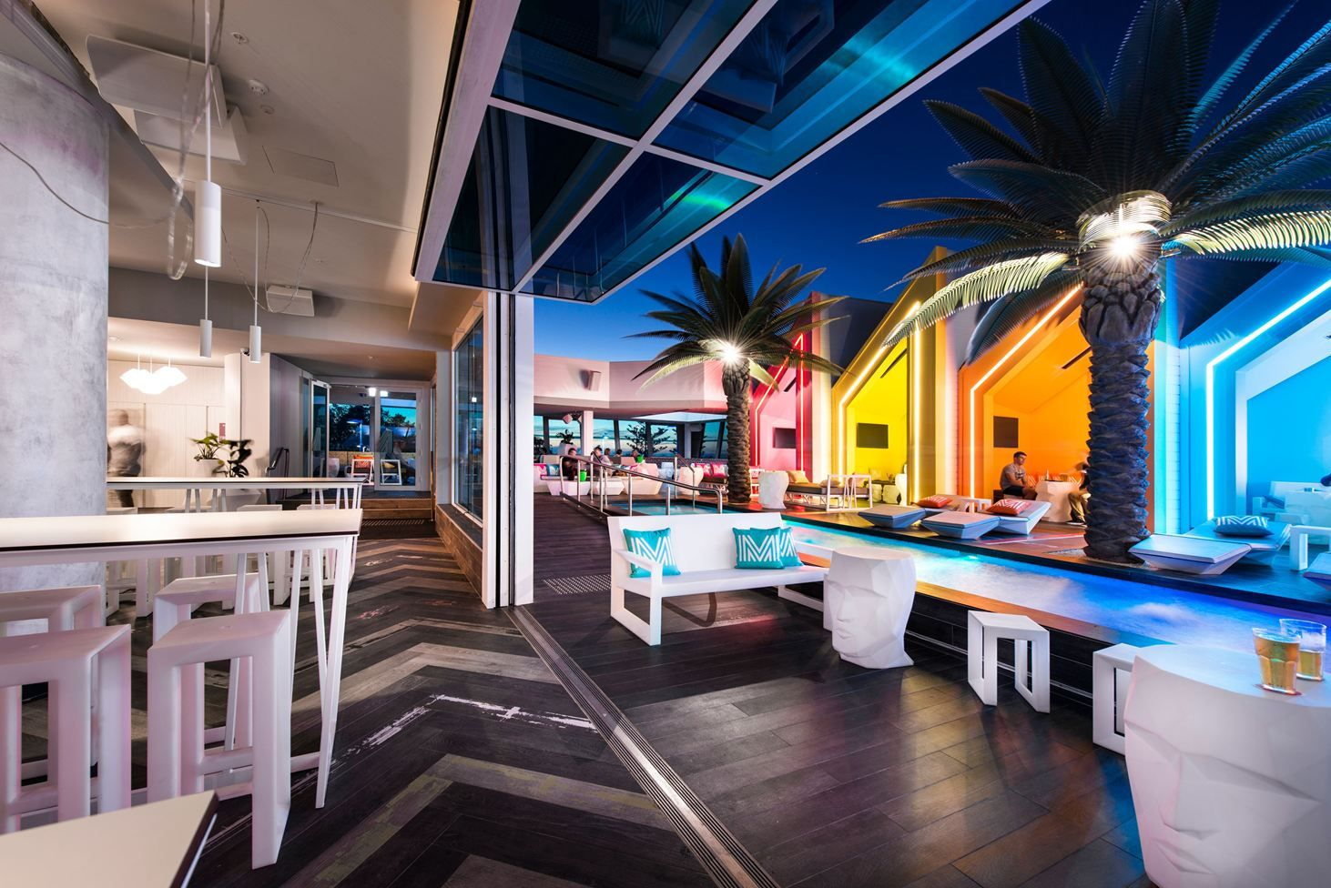 The Exclusive Matisse Beach Club Combines Glamour Design And
