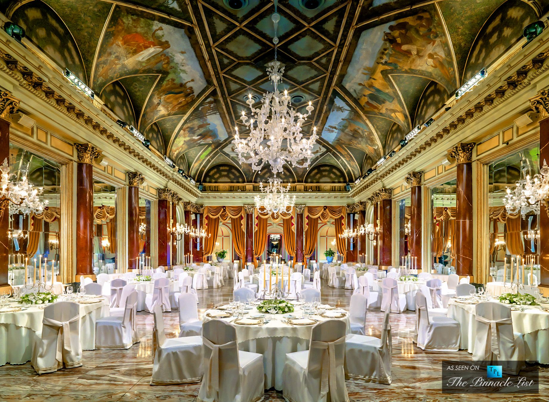 St Regis Luxury Hotel Rome Italy Ritz Ballroom Gala Dinner
