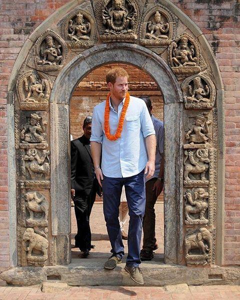 #TB Prince Harry last year at the Kathmandu Durbar Squarein Nepal.