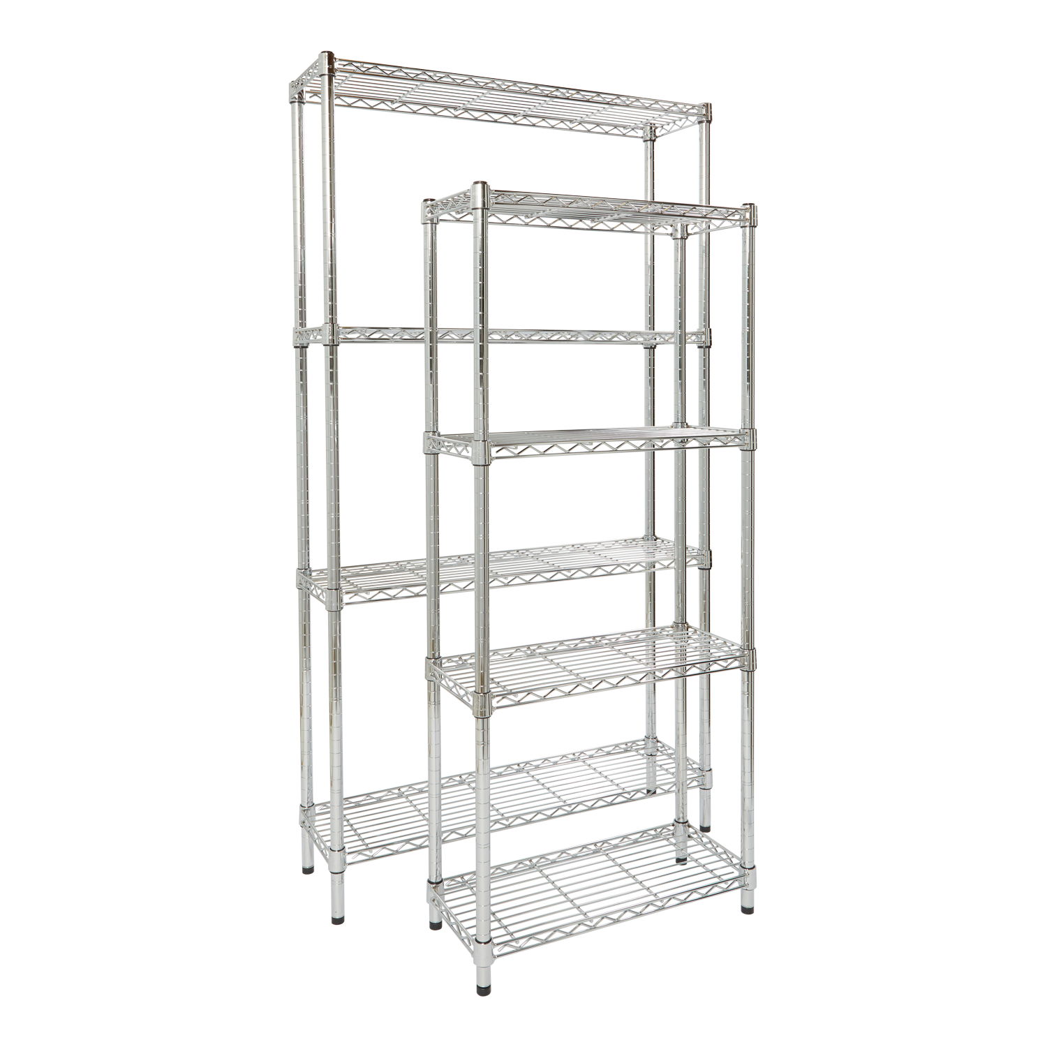 Chrome Wire 72 Inch Deep 4 Shelf Units Shelf Unit Shelves Chrome