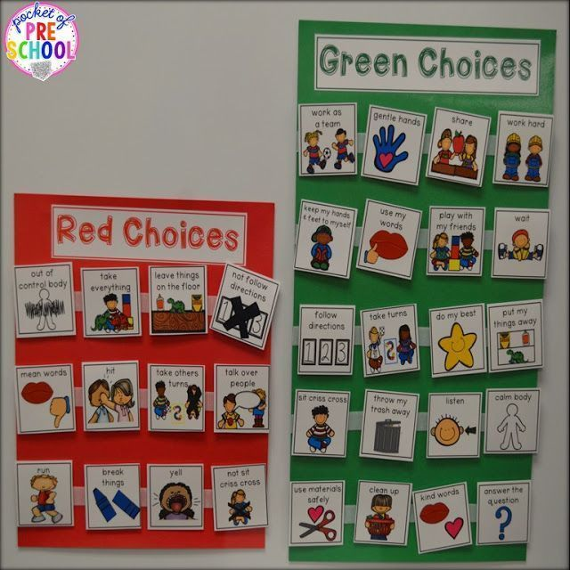 Behavior management system for students with special needs can be as simple as making green and red choices.