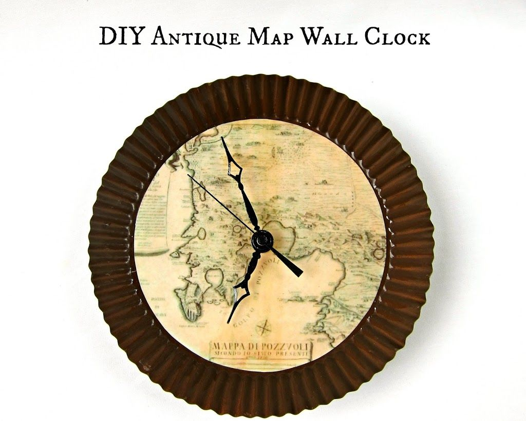 Make a Map Themed Wall Clock | Custom wall, Craft and Crafty