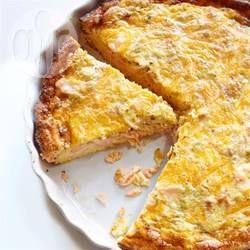 Quiche Mit Lachs Und Cheddar Rezept Herzhafte Kuchen Und Quiches