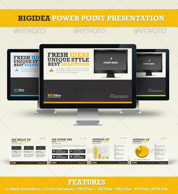 bigidea power point presentation | ppowerppoint | pinterest | power, Powerpoint templates