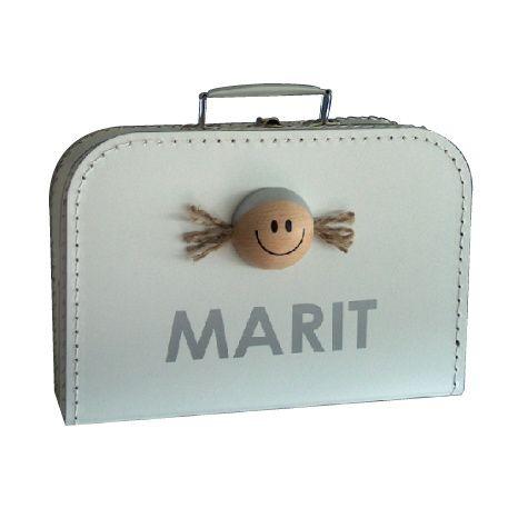 Koffertje WIT 30 cm Meisje (Gewoon;ik)