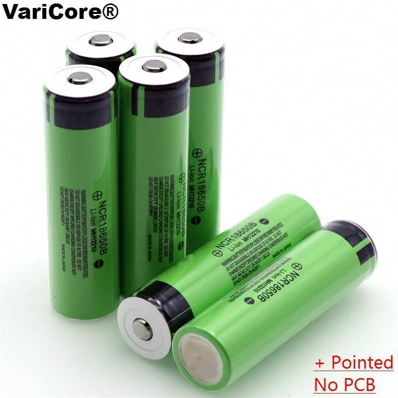 New Original 18650 3 7 V 3400 Mah Lithium Rechargeable Battery Ncr18650b With Pointed No Pcb For Rechargeable Batteries Flashlight Recharge
