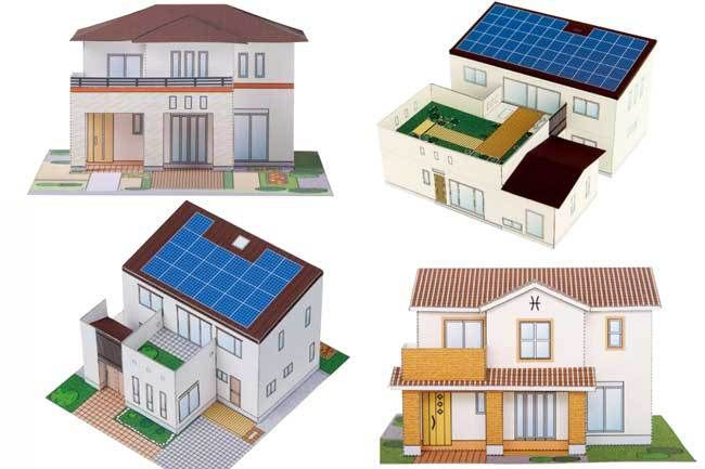 4 Simple Japanese House Paper Models Free Templates Download 1
