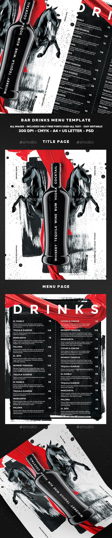 Drinks Menu Template Pinterest Menu Templates Drink Menu And - Bar drink menu template free