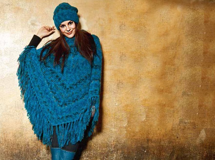 nordico free knitting pattern poncho
