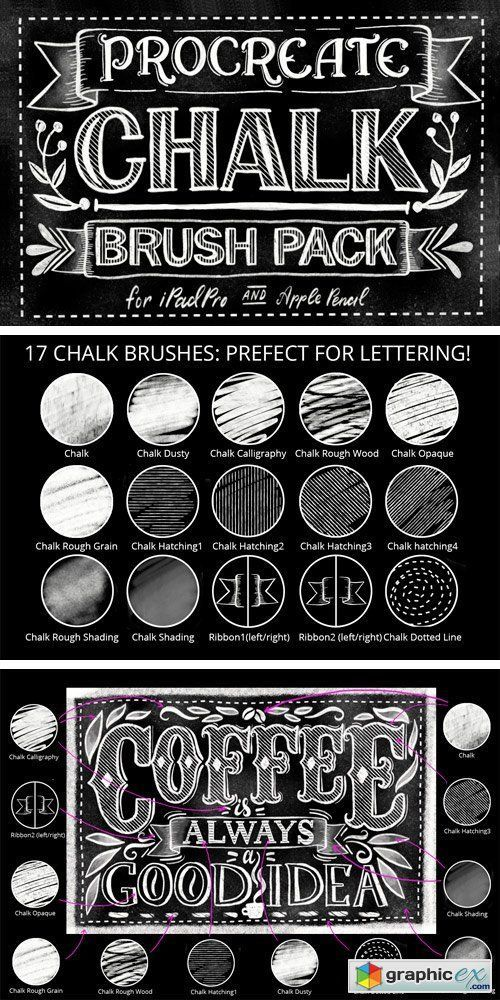 Download Procreate Chalk Lettering Brush Pack | Ipad lettering ...