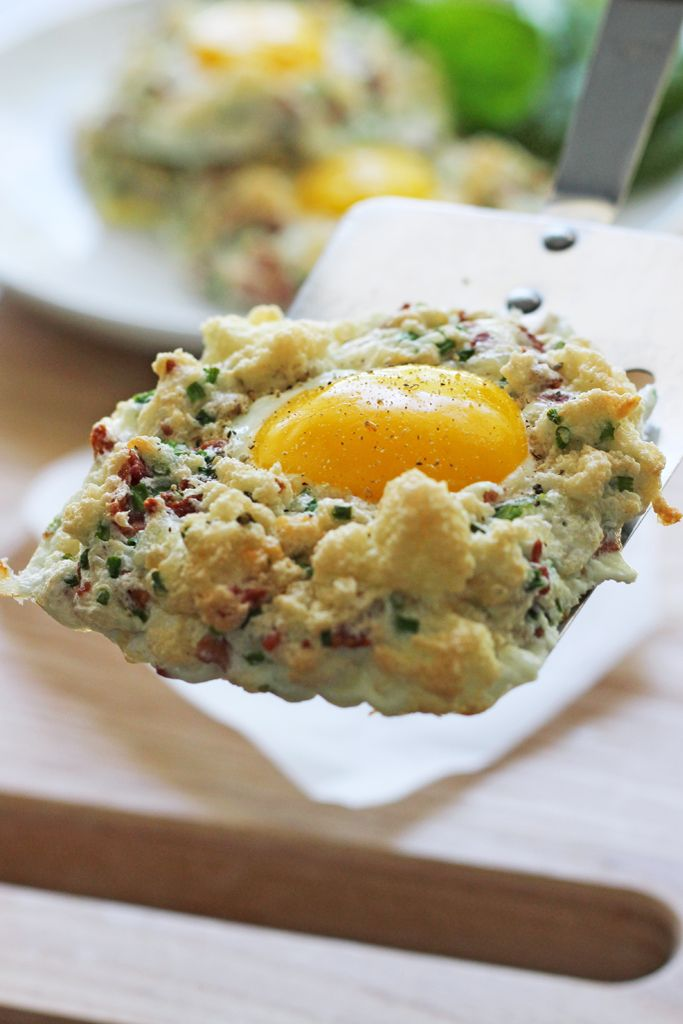 Eggs In Clouds Recipe Breakfast Pinterest Eggs Recipes And