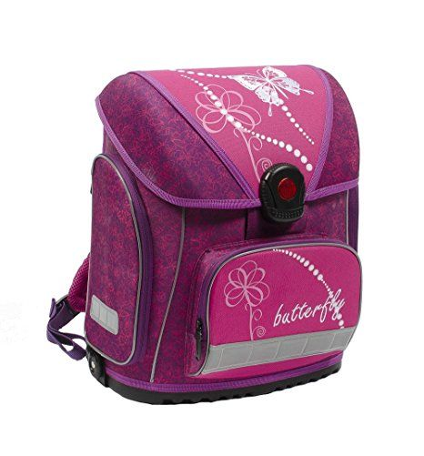 bab7de41c0 Schmetterling Schulranzen für Mädchen 1 Klasse | Tornister Schulrucksack  Butterfly Schultasche für Grundschule | super leicht