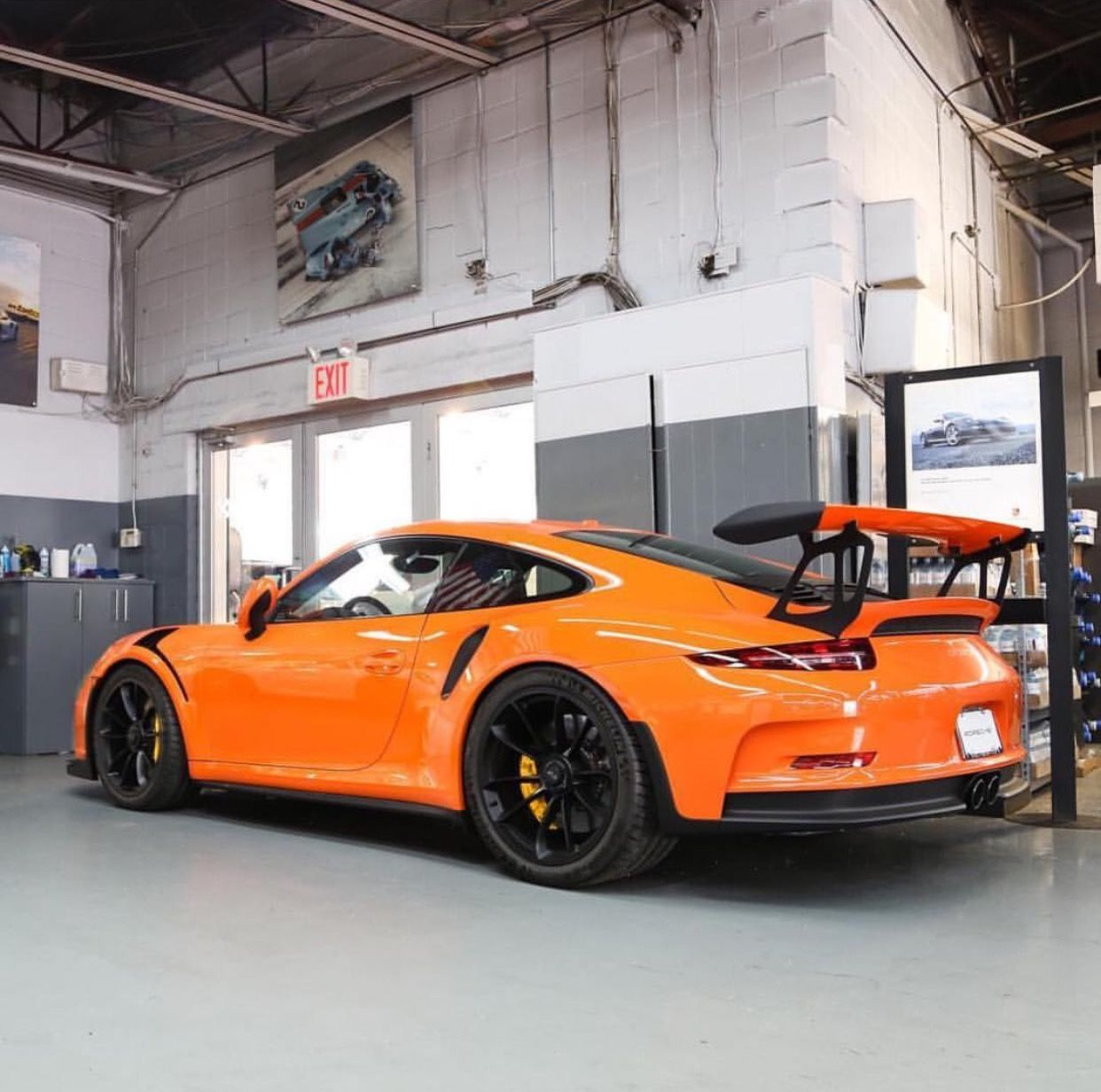 Porsche 991 GT3 RS painted in a paint to sample Orange Photo taken by:  @lamborghiniks on Instagram (@andyfrisella on Instagram is the owner of the  car)