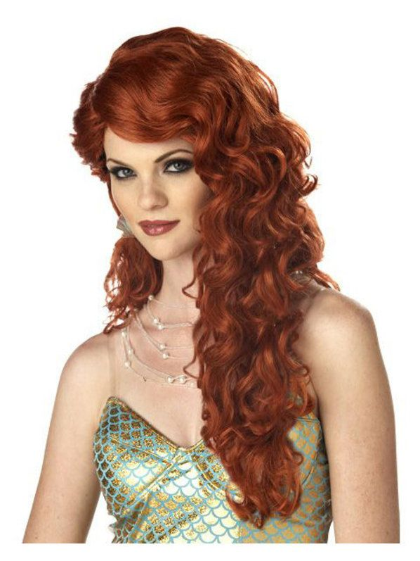 check out mermaid auburn wig cheap auburn red wigs halloween costume for hats