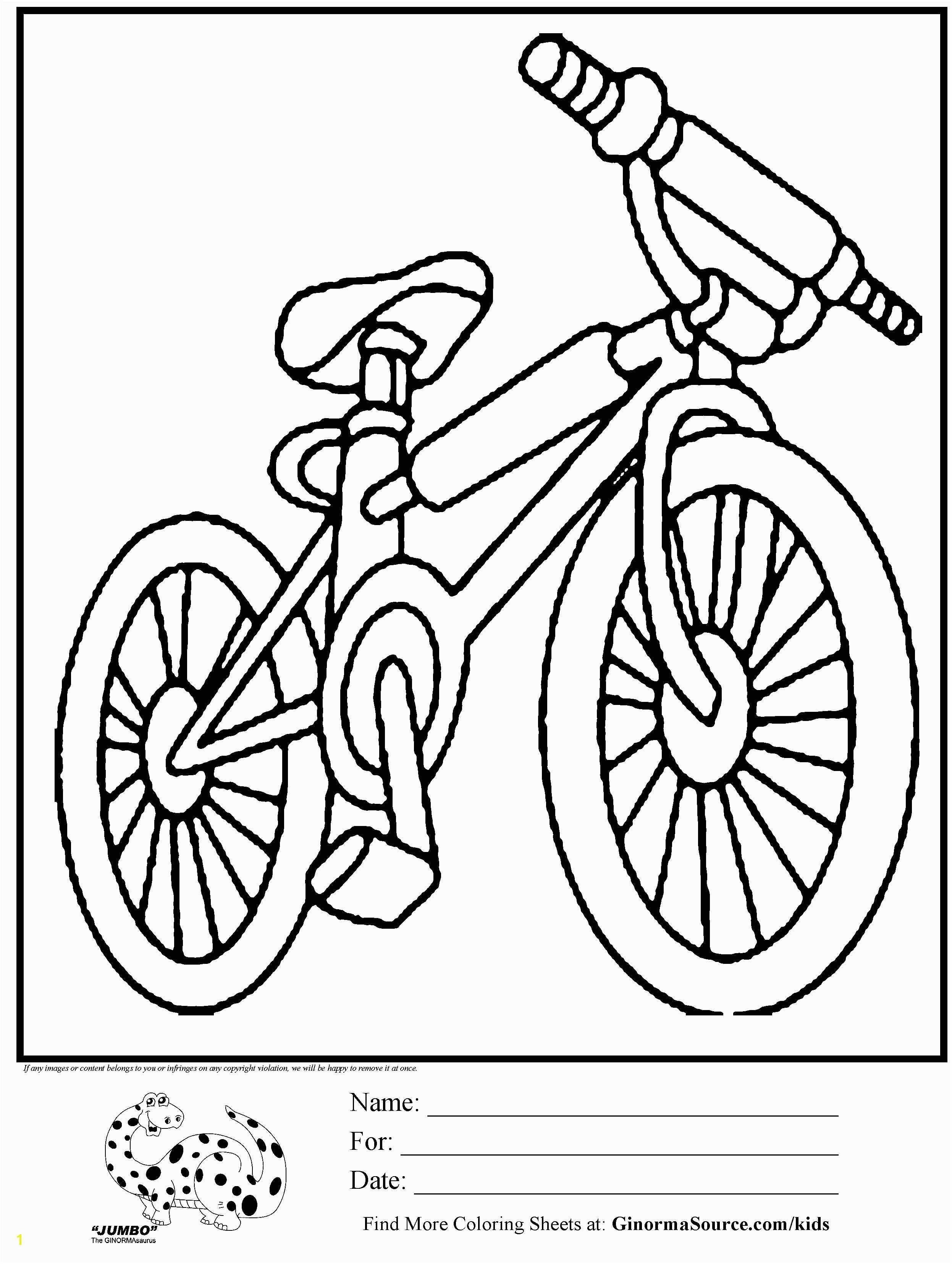 Elegant Image Of Bike Coloring Pages