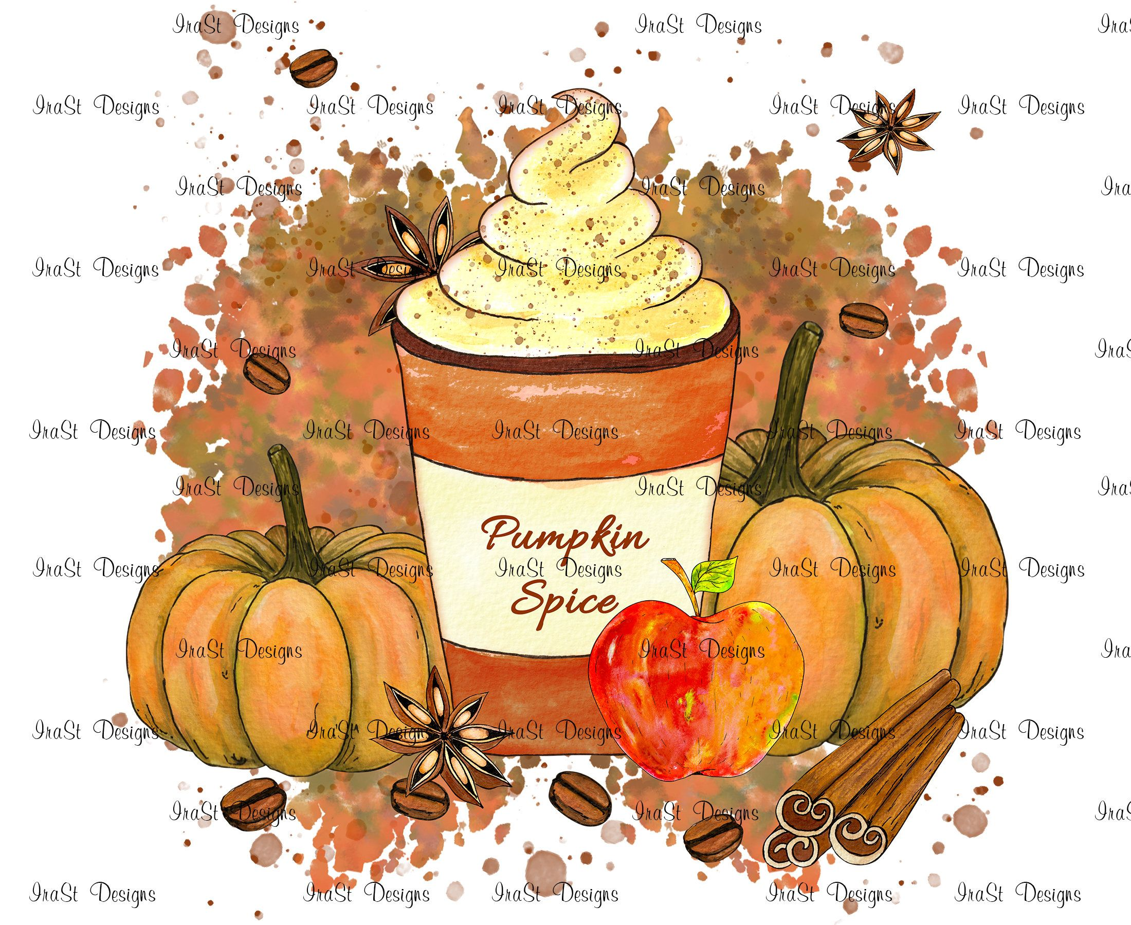 Pumpkin Spice Sublimation Png Hot Chocolate Pumkin Png Etsy In 2020 Pumpkin Spice Drinks Spiced Drinks Fall Wall Art