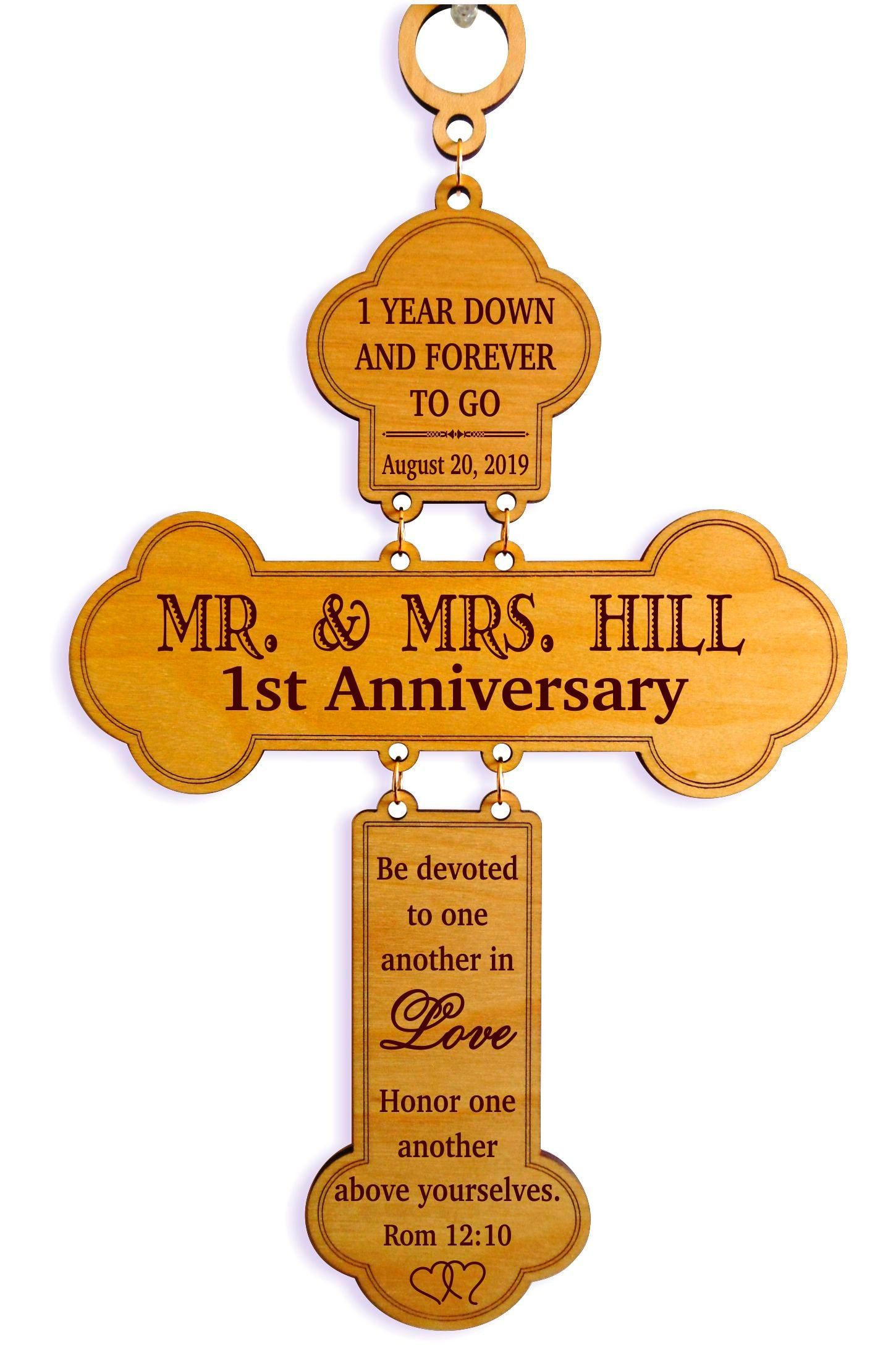 1st Wedding Anniversary Gift for Couple Personalized