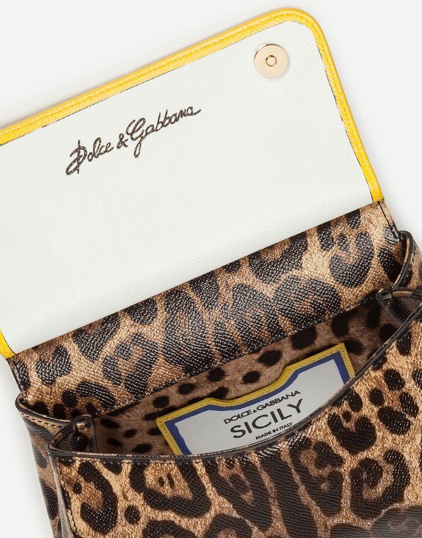 b3004af3aa SMALL SICILY BAG IN PRINTED DAUPHINE CALFSKIN   Dolce & Gabbana ...