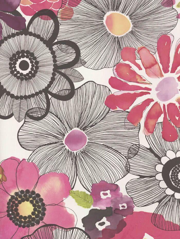 BOHO CHIC Galerie Wallpaper a modern, bold floral design