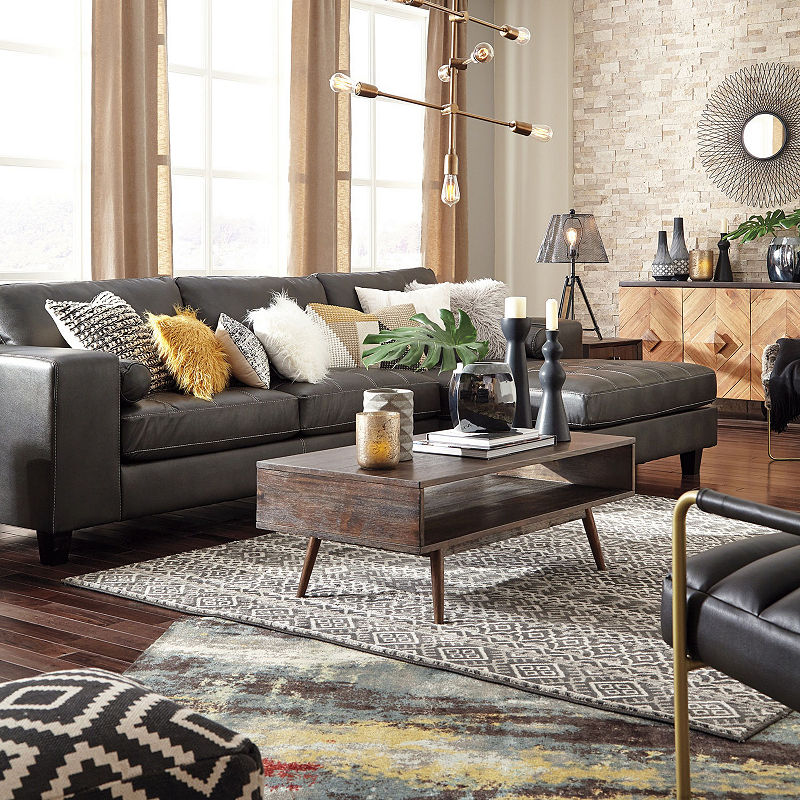 Signature Design By Ashley Decker 2 Pc Sectional With Right Arm Facing Sofa Home Decor Signature Design Design
