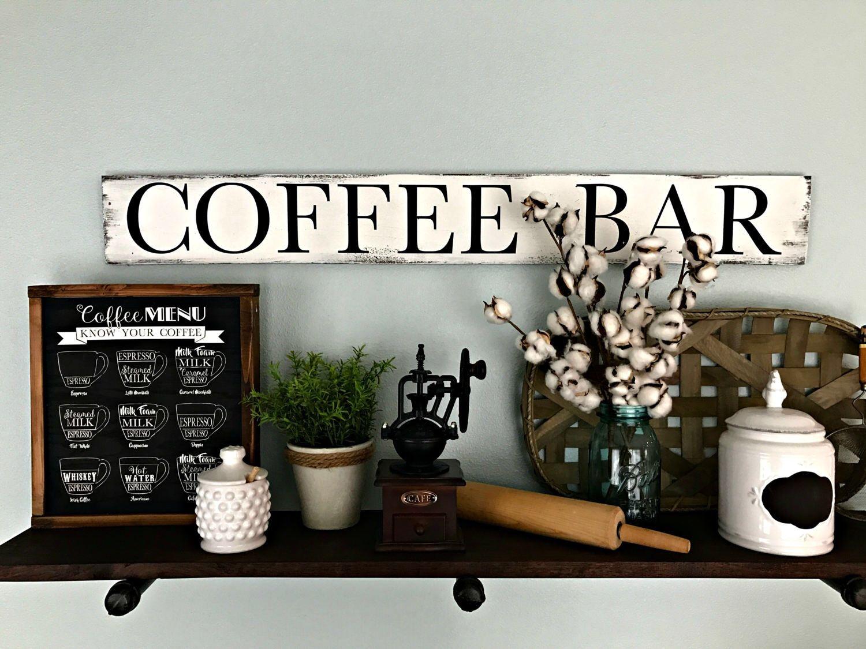 Coffee Sign Coffee Bar Coffee Bar Sign Coffee Decor Coffee