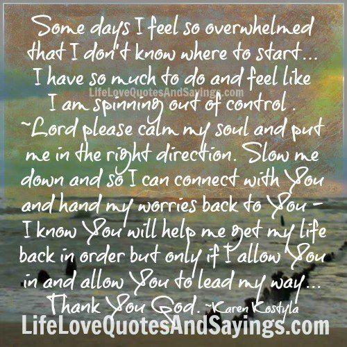 Some days I feel so ov...