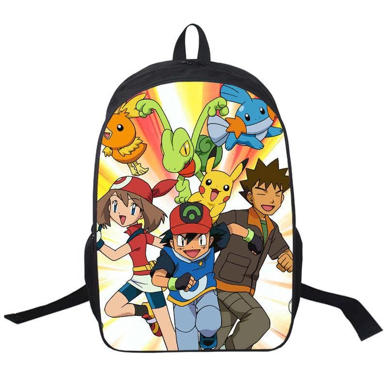 Anime Pokemon Daily Backpack Boys Girls School Bags Pikachu Prints Backpack  For Teenagers Kids Gift Backpacks Schoolbags Mochila a55344029b