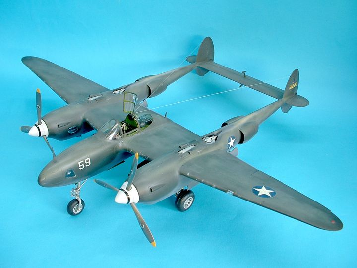 Trumpeter P-38L Lockheed Lightning Cutting Edge conversion 1:32nd scale