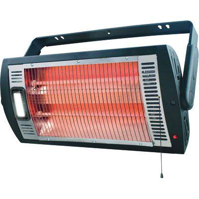Profusion Heat Ceiling Mounted Workshop Heater With Halogen Light 5 200 Btu 1 500 Watts Model Hq1500 Garage Heater Shop Heater Portable Heater