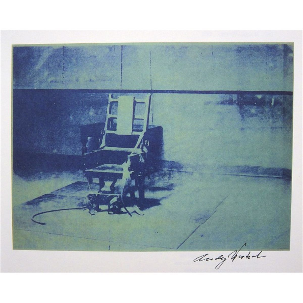 Electric chair andy warhol - Andy Warhol Signed Print Electric Chair