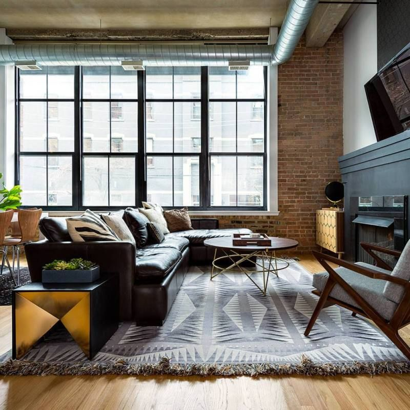 73 Eclectic Living Room Decor Ideas: 51+ Industrial Living Room Decor Ideas