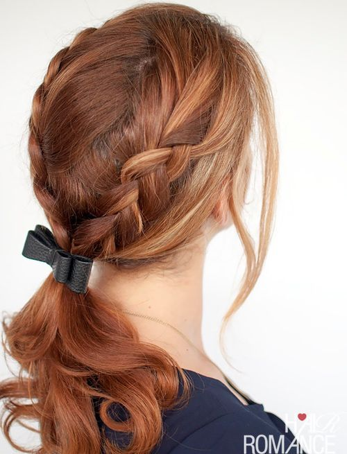 Two Ponytail Hairstyles Braided Ponytail Ideas 40 Cute Ponytails With Braids  Ponytail
