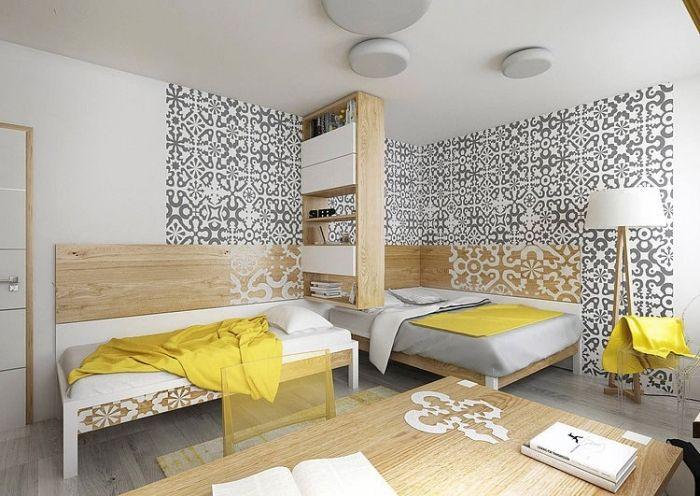 Designer Kinderzimmer designer kinderzimmer für geschwister gelb und grau im gekonnten