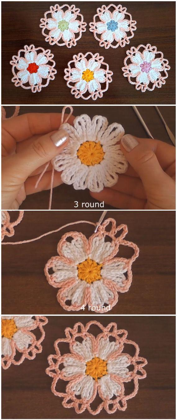 Crochet Easy Motif Flower