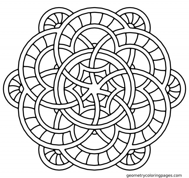 Fountain Mandala Coloring Pages Geometry Coloring Pages 136429 3d