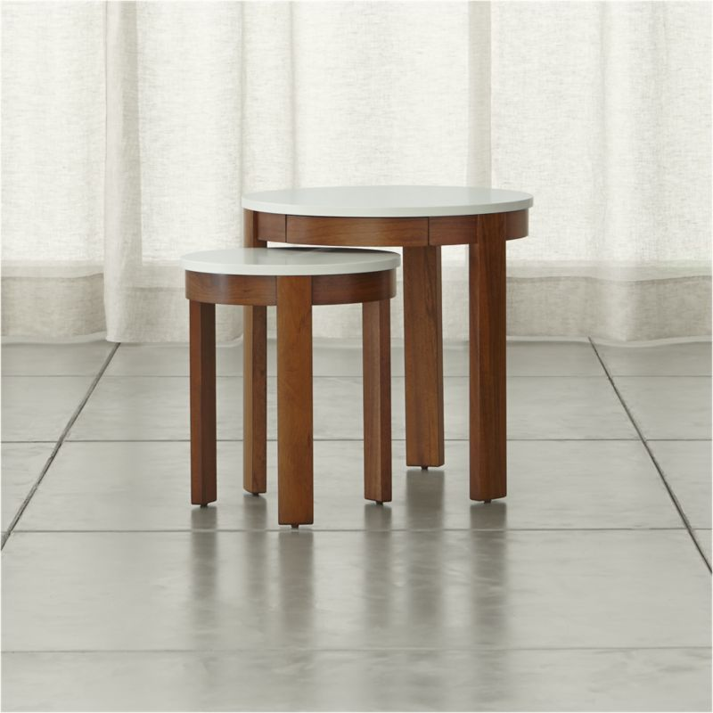 Set of 2 Pastis Nesting Side Tables | Crate and Barrel
