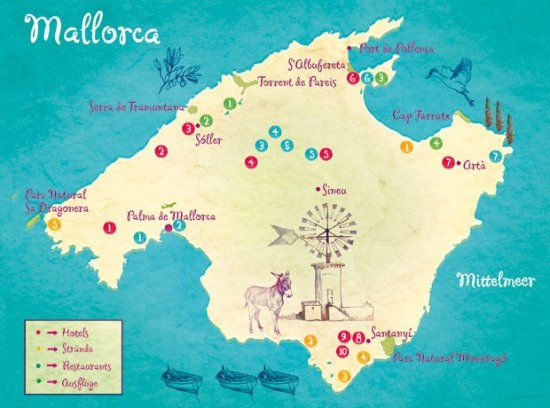 Balearic Islands Of Minorca Mallorca Ibiza And Formentera