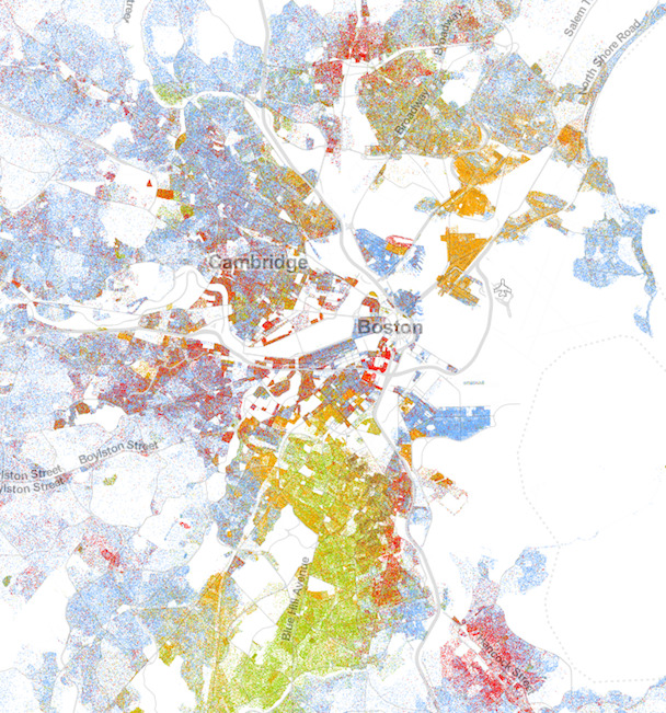 Map Of America By Race.A Strangely Beautiful Map Of Race In America Maps Race In