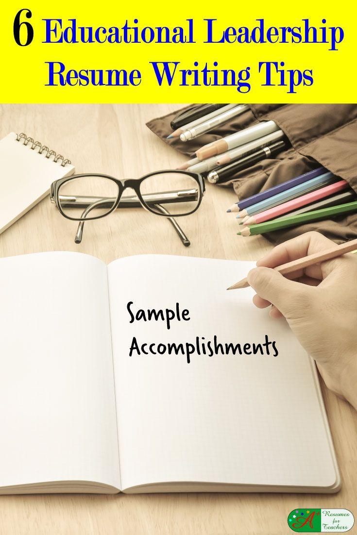 Educational leadership resume writing tips sample