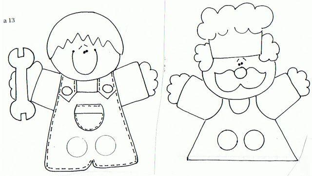 marionetas de dedos para imprimir y colorear - Buscar con Google ...