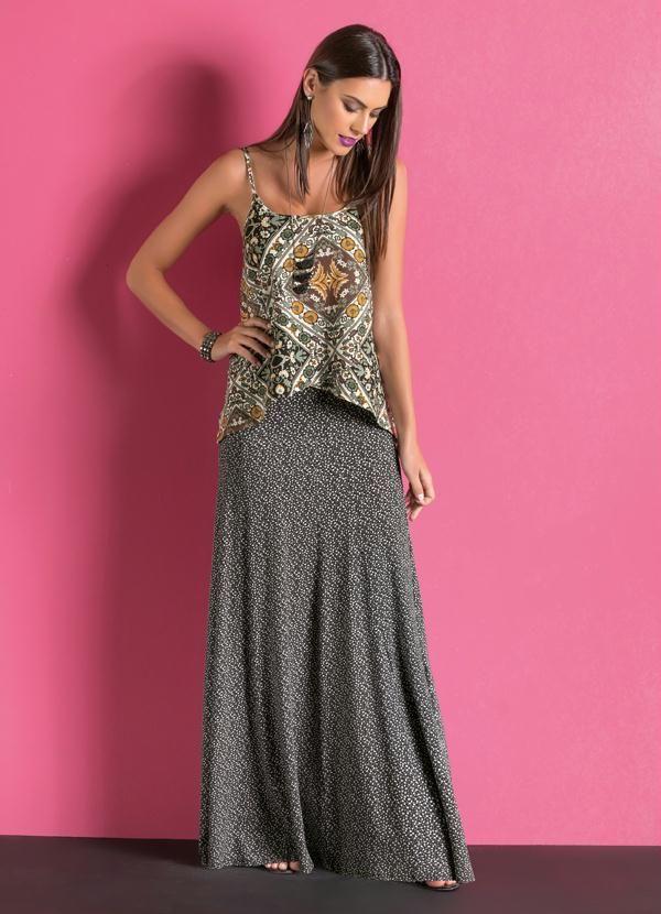 Sgarbi Store | Saia longa estampada | saião | Pinterest | Ropa linda ...
