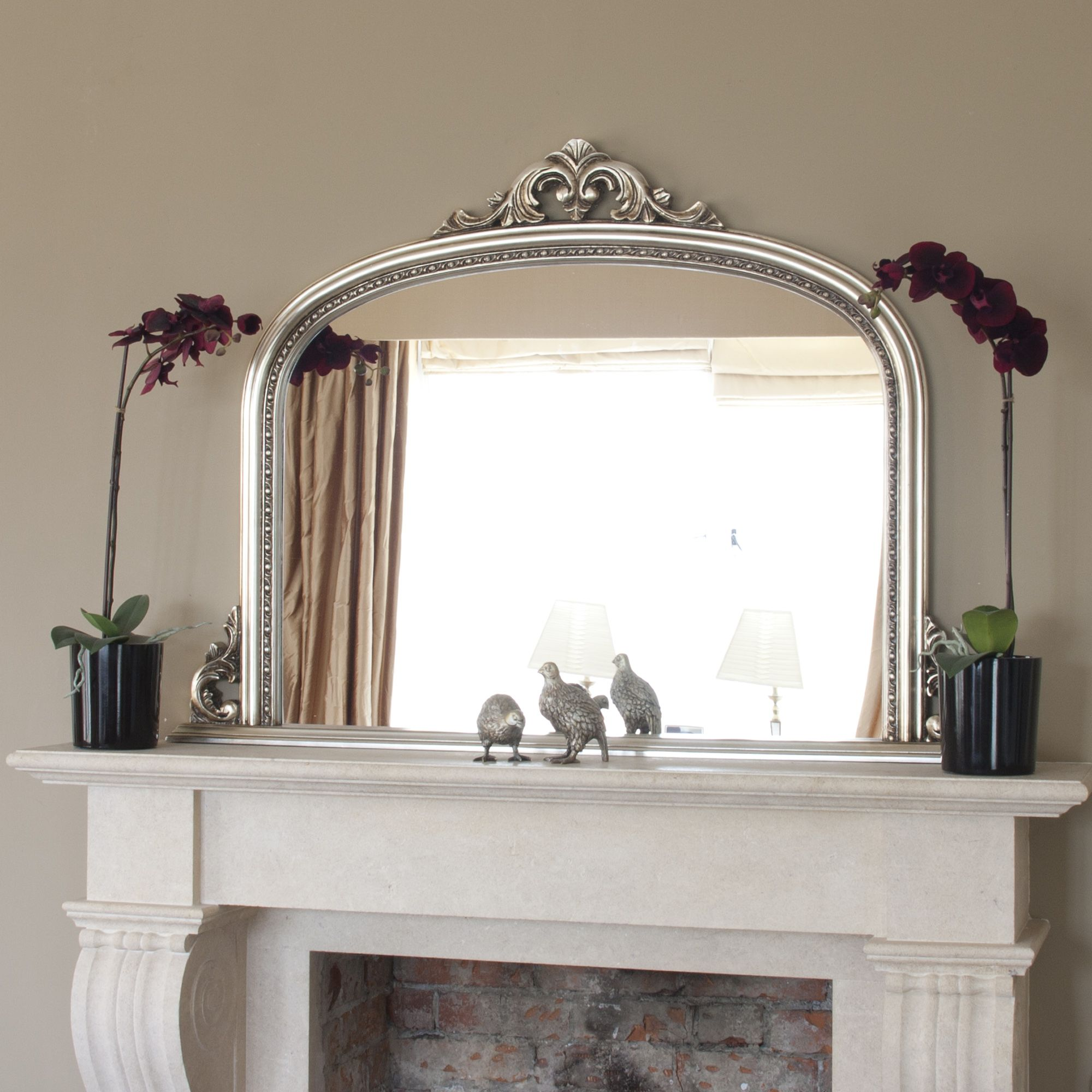 mirror fireplace over mirrors design antique silver mantle large x pin wall big