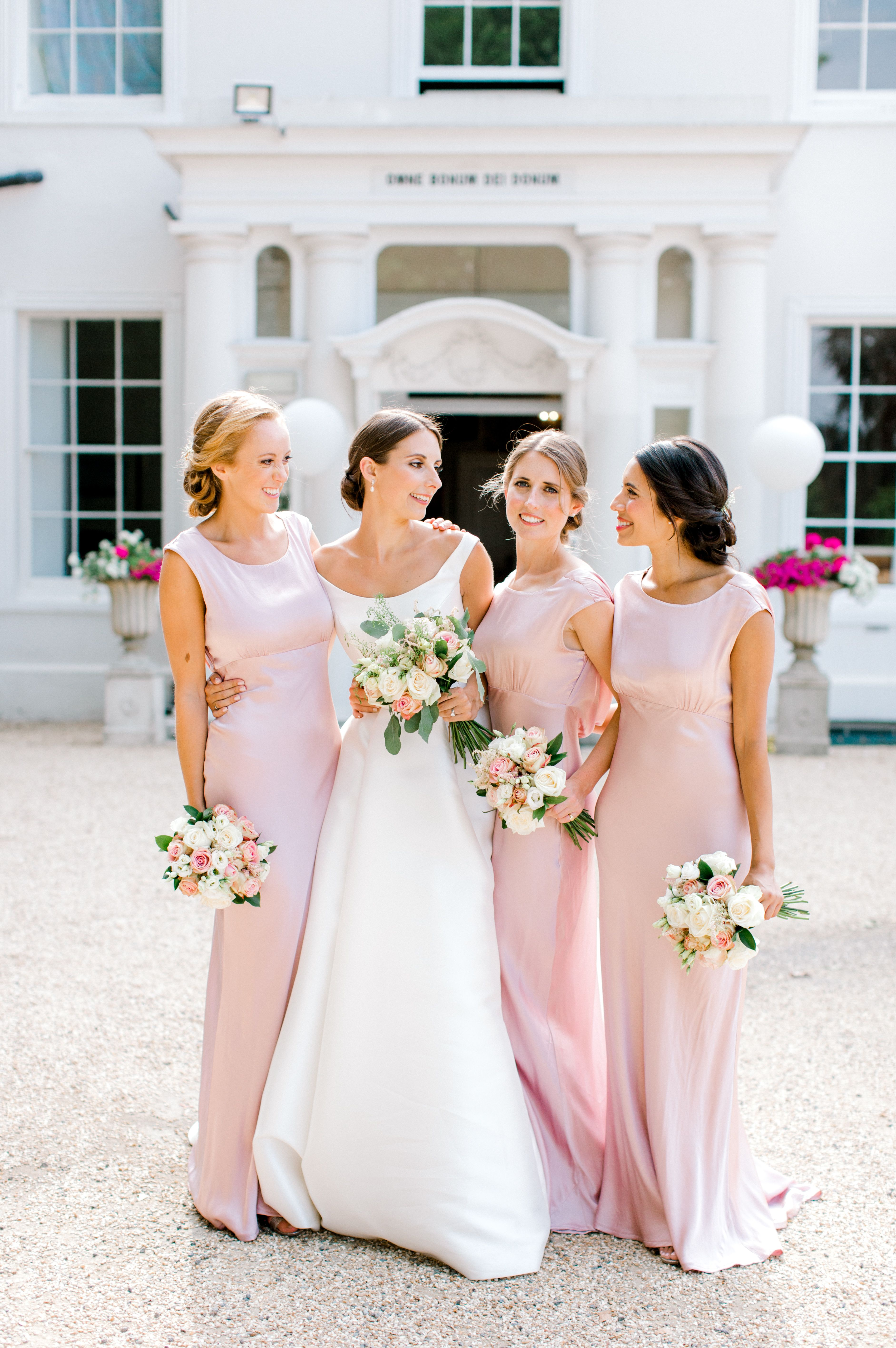 Elegant English Country House Wedding With Ballerina Style At West Hill Park School In 2020 Country Style Wedding Dresses Wedding Dresses Simple Beautiful Bridesmaids