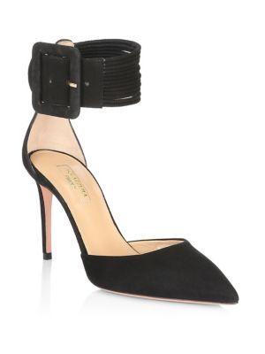 Aquazzura 50mm Casablanca Suede Sandals