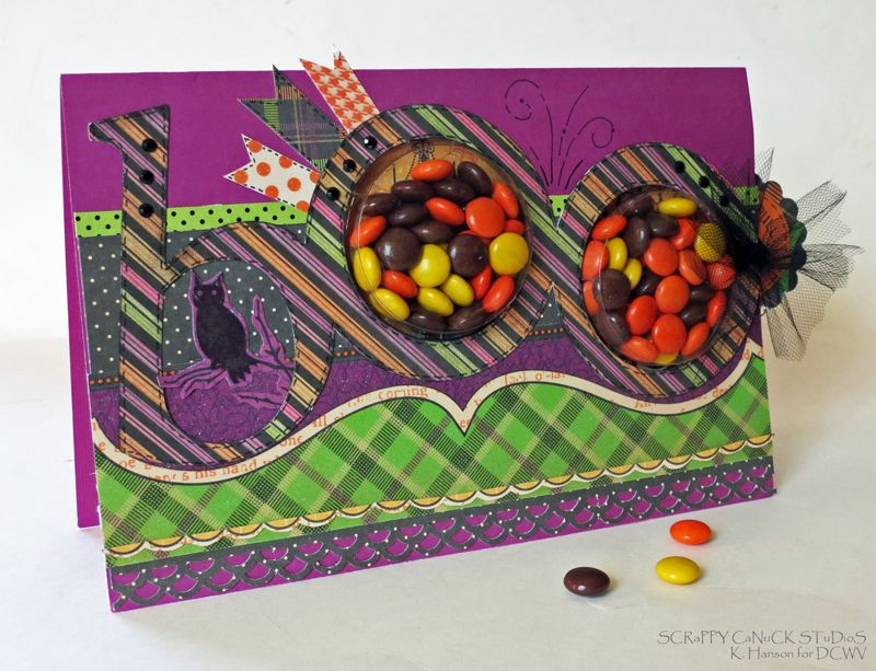Boo-front-full card made with some tasty treats!