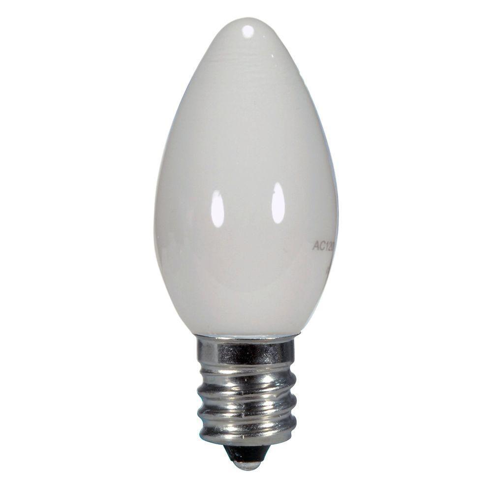 Glomar 7w Equivalent Warm White C7 Led Light Bulb Hd S9157 The Home Depot Led Light Bulb Night Light Bulbs Light Bulb