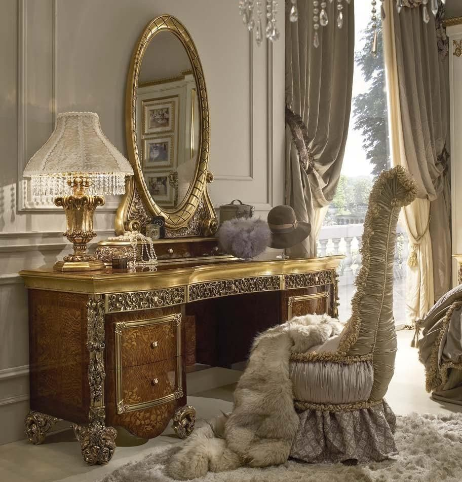 Luxury makeup vanity with mirror fit for a true queen or