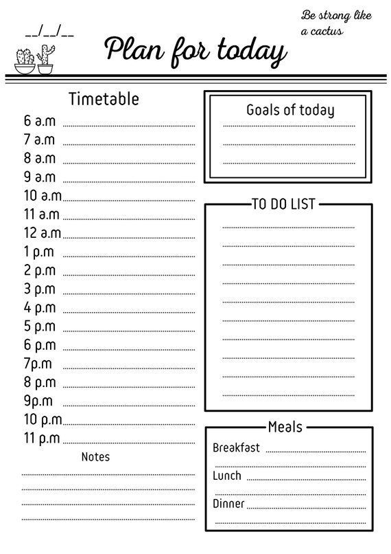 Daily schedule printable | Daily checklist | Hourly checklist | daily organizer | daily planner printable a5 | daily to do list|daily agenda