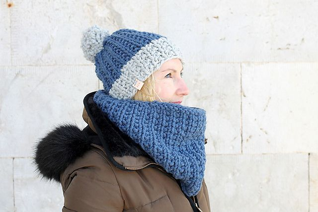 Ravelry: Women's Bobble Hat And Scarf pattern by Louise ...