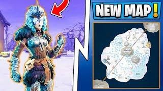 New Fortnite 6 0 Update Snow Map Ice Castle Poi Season 6